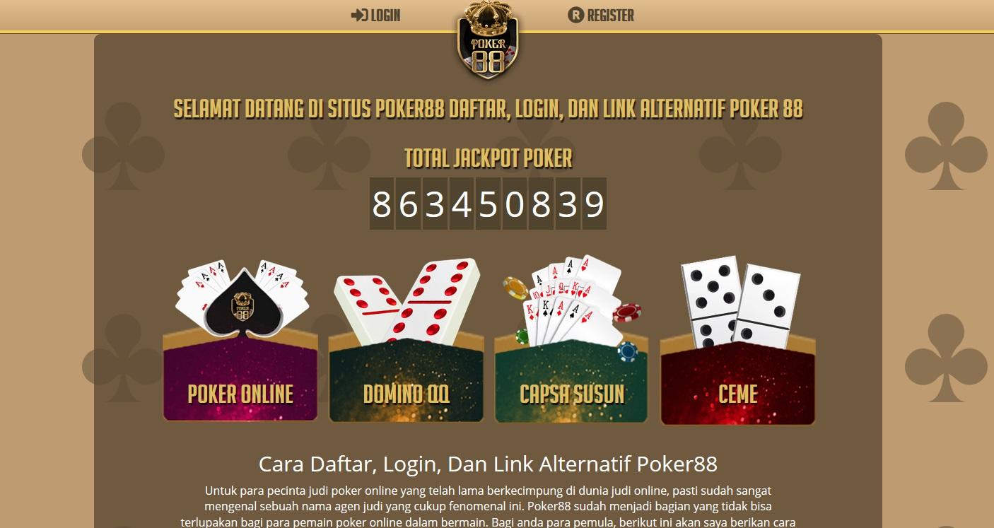Poker88 Situs Dewa Poker Online Indonesia DominoQQ Capsa Susun